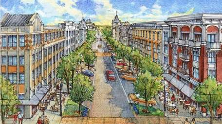 A rendering of the proposed mixed-use project in