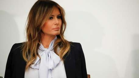 First lady Melania Trump attends the 6th Federal