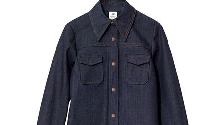 This dark denim shirt is more haute than