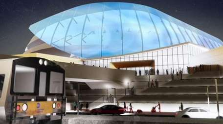 Rendering of the proposed arena at Ronkonkoma with