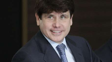 Former Illinois Gov. Rod Blagojevich smiles as he