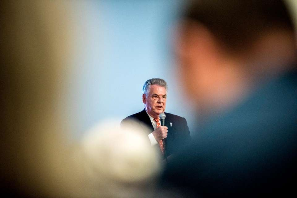Incumbent Rep. Peter King (R-Seaford) and his challenger
