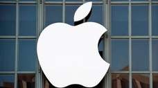 The Apple logo is seen on the outside