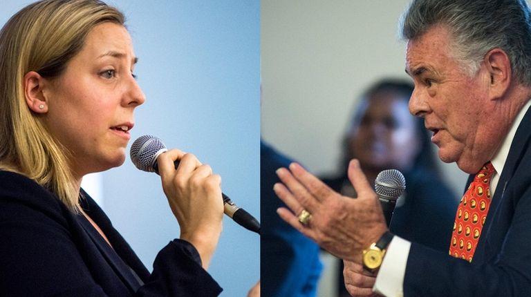 Democrat Liuba Grechen Shirley and Republican Rep. Peter