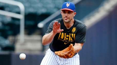 David Wright of the New York Mets participates