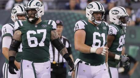 New York Jets offensive guard Brian Winters #67