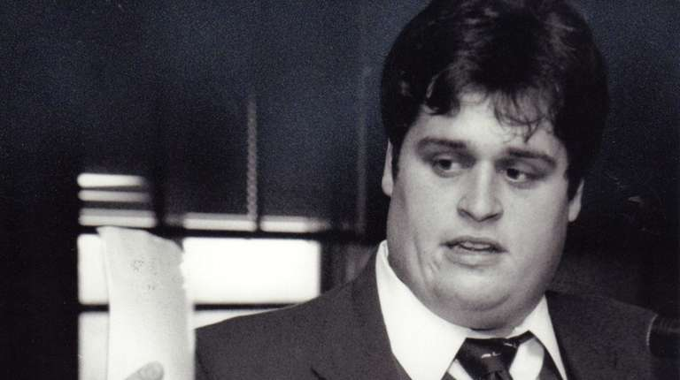 Dennis Holland at a hearing for crime victims