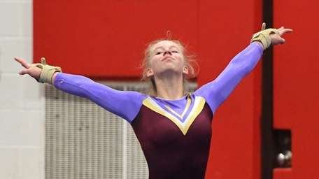 Kerin Spadaro of Bay Shore/Islip competes in the