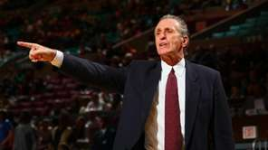 Pat Riley, head coach of the Miami Heat,