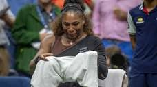 Serena Williams gets emotional after speaking to tournament
