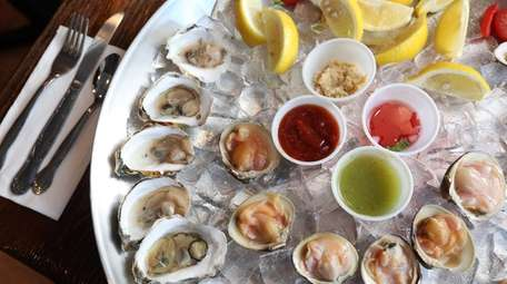 Oysters and clams on the half-shell at The