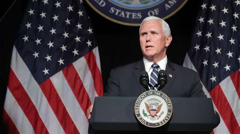 Vice President Mike Pence announces the Trump administration's