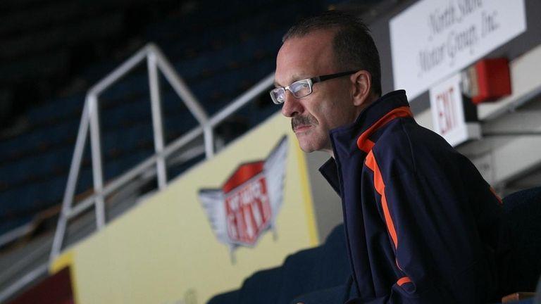 Islanders director of pro scouting Ken Morrow watches