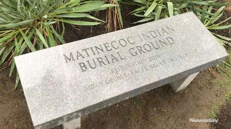 Boy Scout Aidan Decker renovated the Matinecock grave
