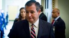 Sen. Ted Cruz (R-Texas) leaves the Republican policy