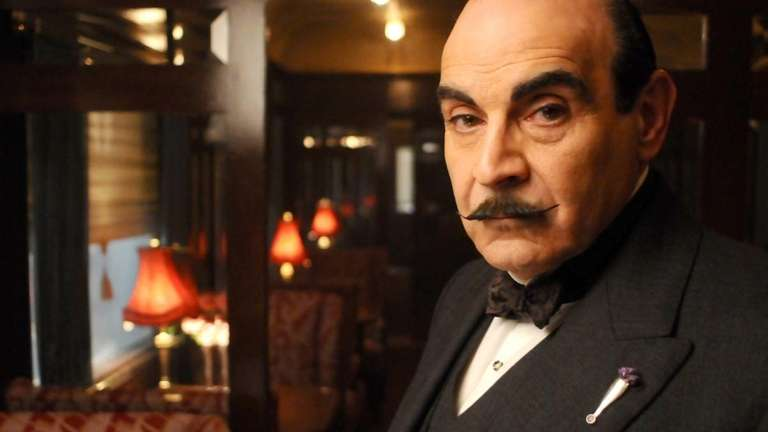 David Suchet as Hercule Poirot in