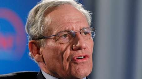 The Washington Post's Bob Woodward speaks during an