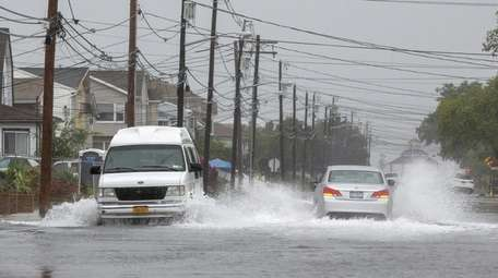 Flooding on South Long Beach Avenue in Freeport