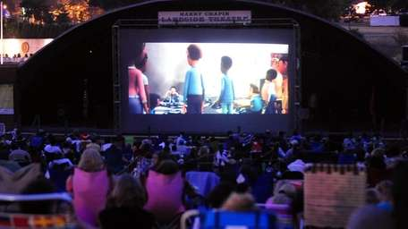 Outdoor movie night at the Harry Chapin Lakeside