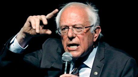 Sen. Bernie Sanders (I-Vt.) responds to a question