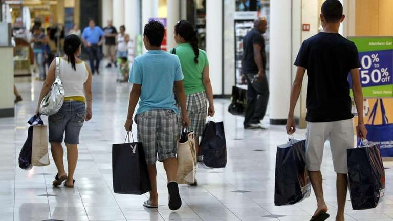 Shoppers are busy shopping at Roosevelt Field Mall
