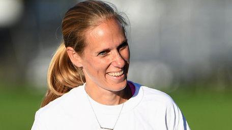 Northport head coach Aija Gipp speaks to her