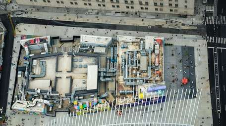 View from atop 3 World Trade Center on