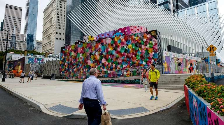 Colorful artwork covers the exterior of the site