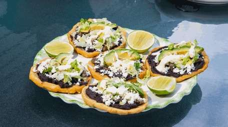 Sopes made by the Romero family at their