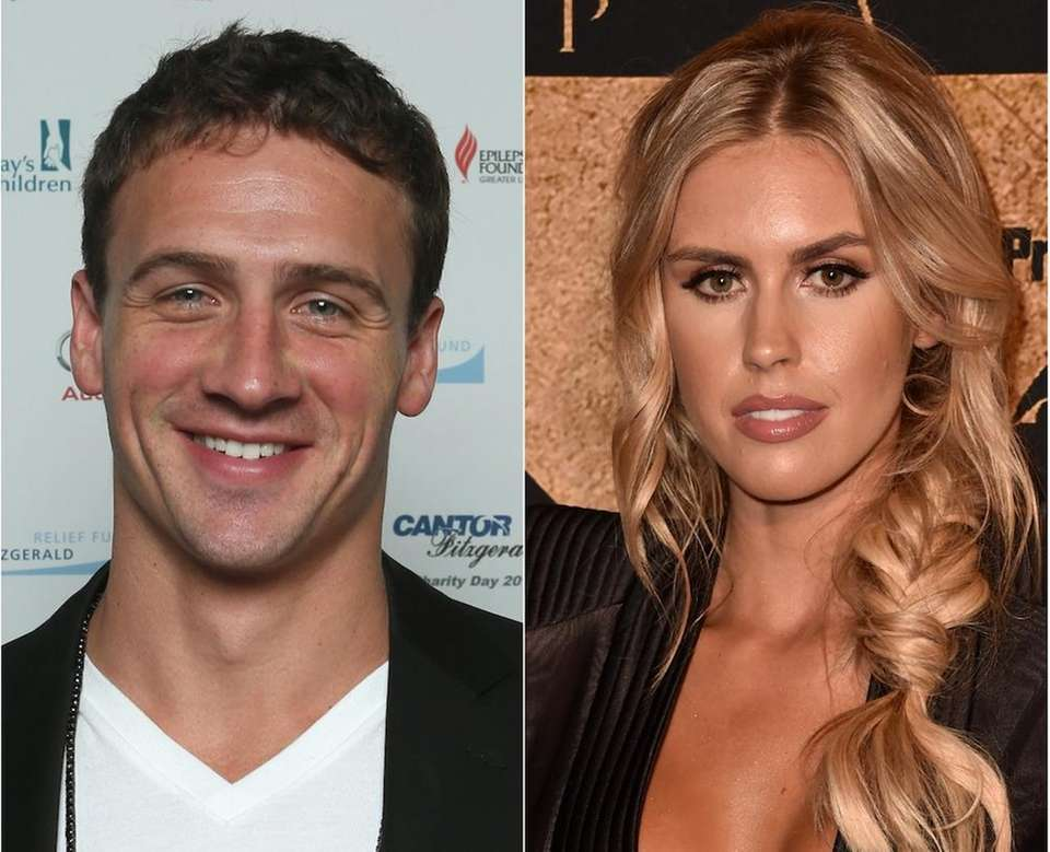 Olympic swimmer Ryan Lochte and his fiancee, Playboy