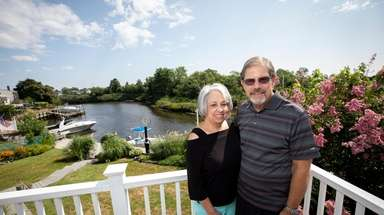 Sue and Steve Lewis at their home in