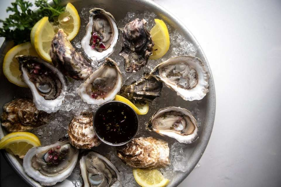 A plate of oysters offered at Catch Oyster