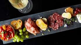 A salumi board at Virgola in Patchogue with