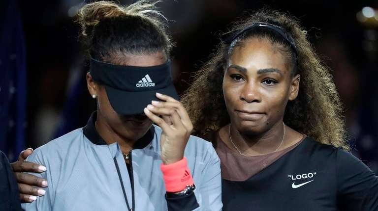 Naomi Osaka and Serena Williams after Osaka's U.S.