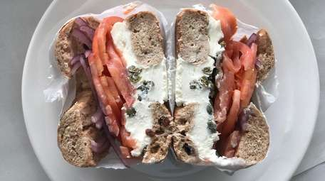 A bagel prepared to the specs of Democratic