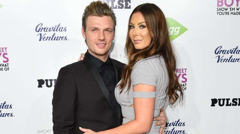 Nick Carter and Lauren Kitt at the premiere