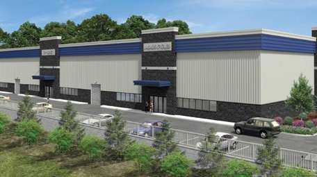Rendering of a warehouse to be built on