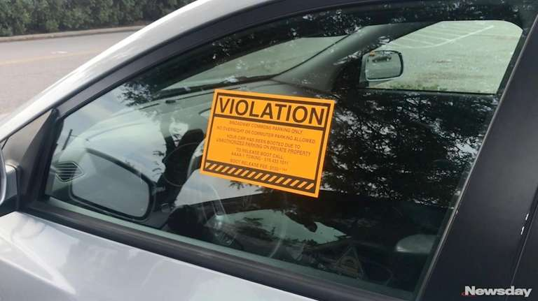 More than 50 vehicles were booted Monday and