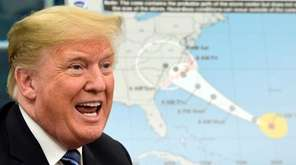 President Donald Trump talks about Hurricane Florence following