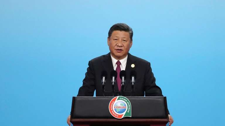 Chinese President Xi Jinping speaks during the high-level