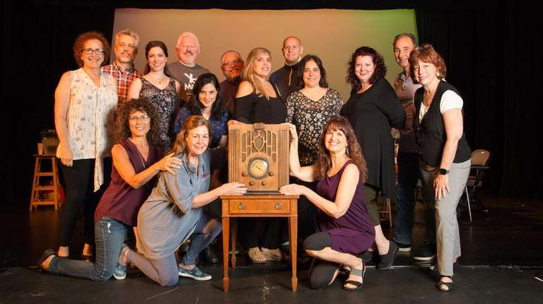 The cast of the Landmark Radio Theater's production