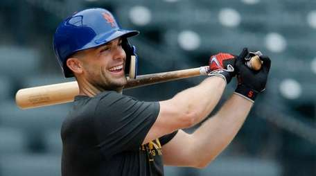 David Wright of the  Mets participates in