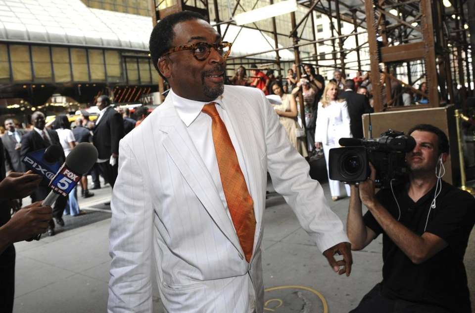 Director Spike Lee enters Cipriani's for the wedding