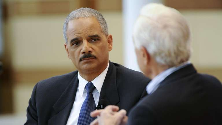 Attorney General Eric Holder is interviewed by Bob