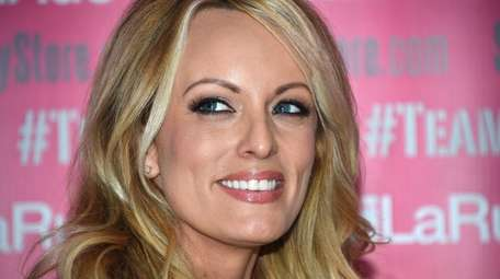 Stormy Daniels, seen on May 23, announced she