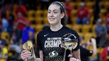 Seattle Storm forward Breanna Stewart poses with the