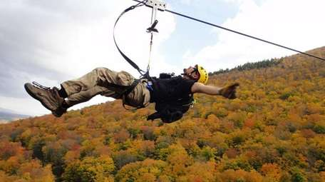 Hunter Mountain Zip Line - Catskill's towering (4,000-foot)