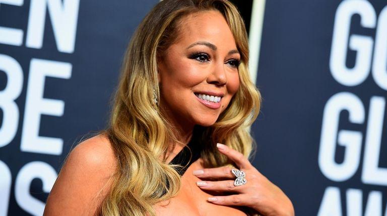 Mariah Carey at the Golden Globe Awards