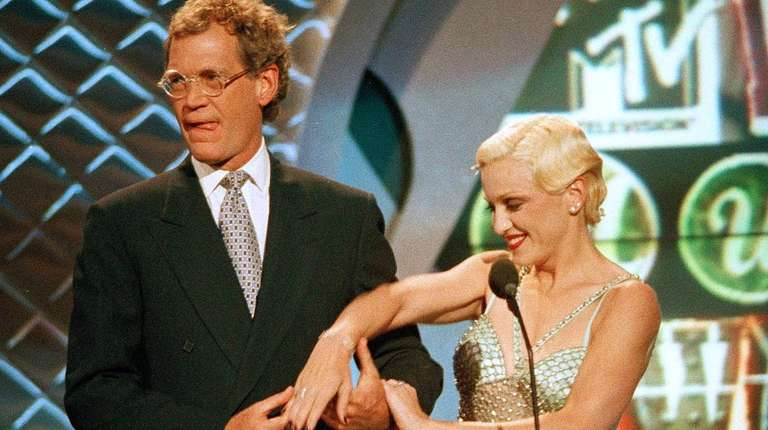 David Letterman joins Madonna at the 1994 MTV