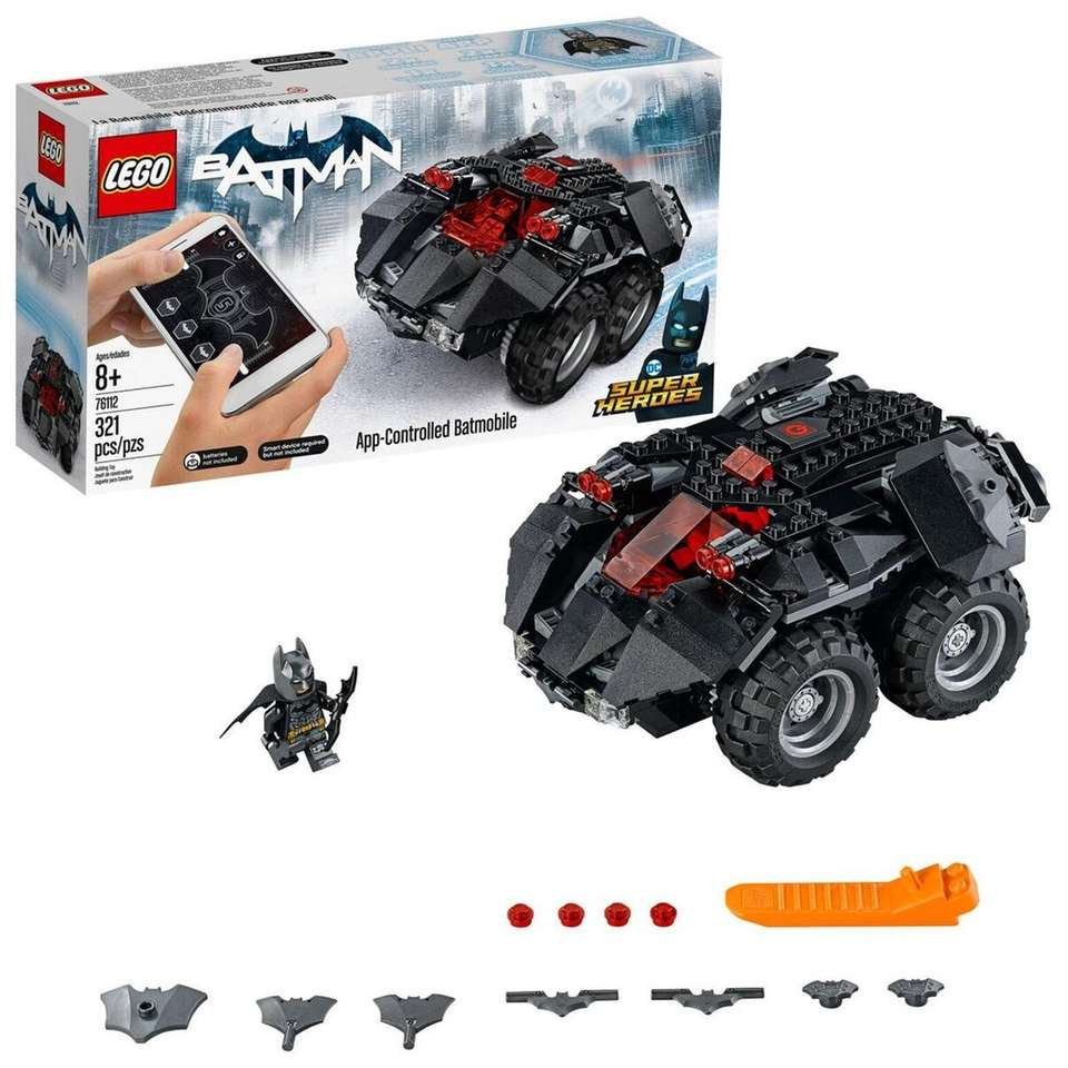 This vehicle features two motors, an opening minifigure